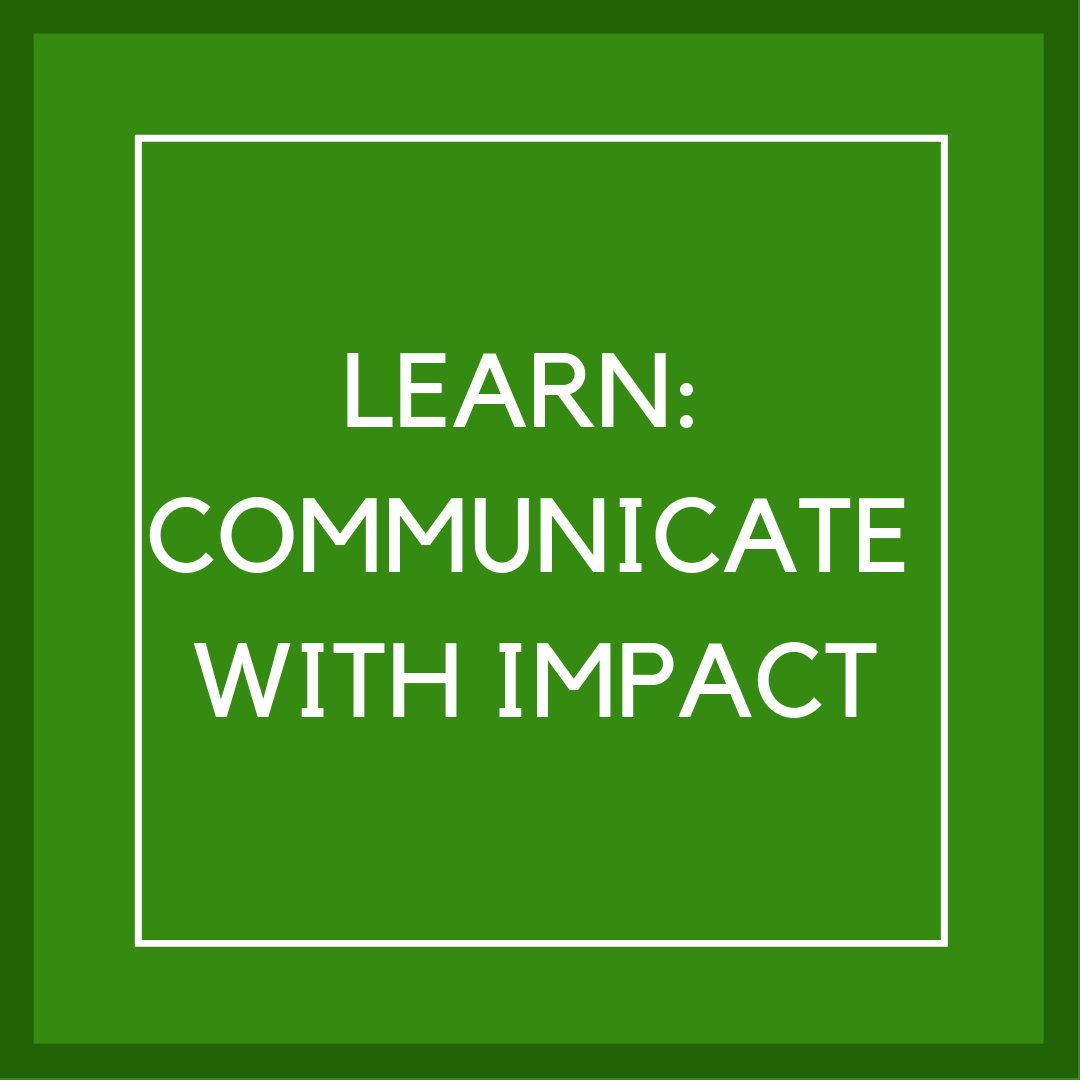 p12 box 4 lean: communicate with impact